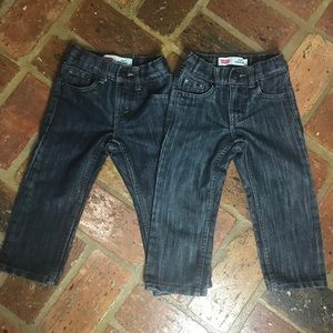 2 PAIR of LEVI'S 514 ADJUSTABLE WAIST JEANS SZ 2T